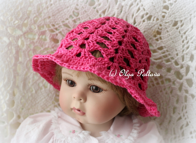 Free Crochet Patterns Baby Swaddlers : Lacy Crochet: Simples Shells Baby Summer Hats