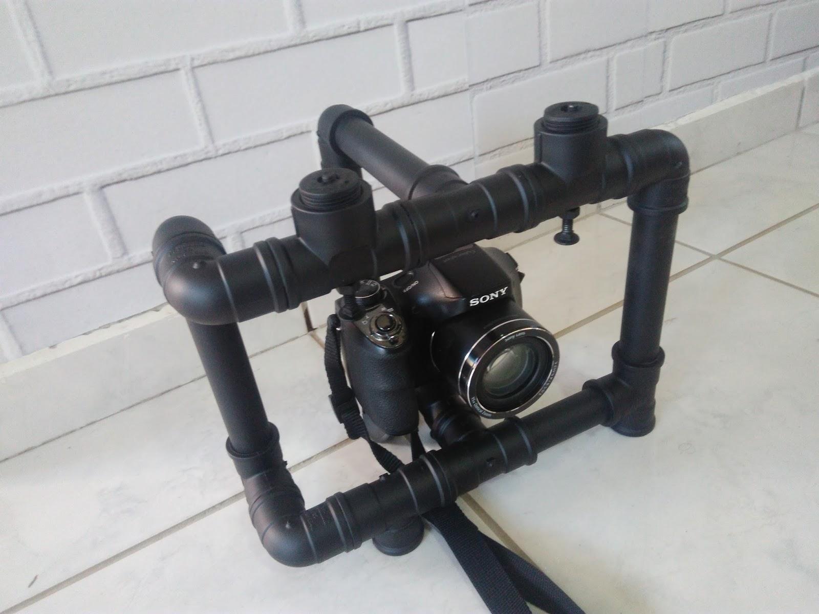 Estabilizador de câmera caseiro (cano pvc)