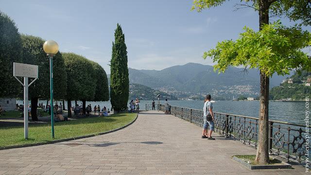 Paseo Villa Olmo Como Lombardía Italia viaje