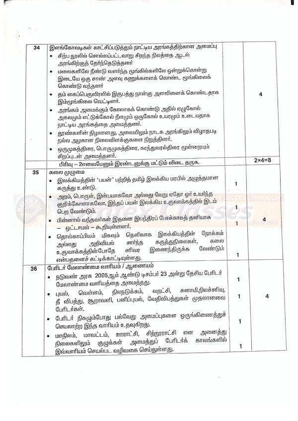 12th Tamil - Official Public Exam Answer Keys 2020 - Tamil Medium Key Answer Download