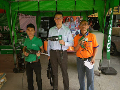 Mr. P Bob with the managing director of Hitachi Power Tools in Buriram