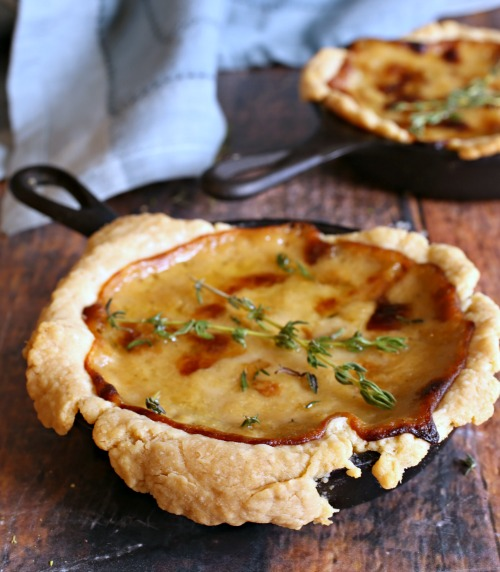 Caramelized-Onion-and-Gruyere-Skillet-Tarts