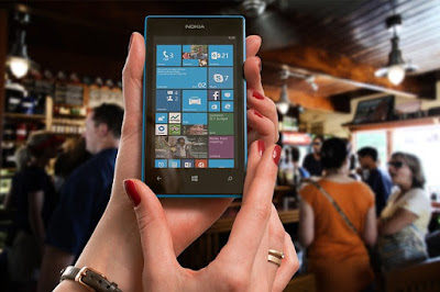 Woman using a Lumia Phone
