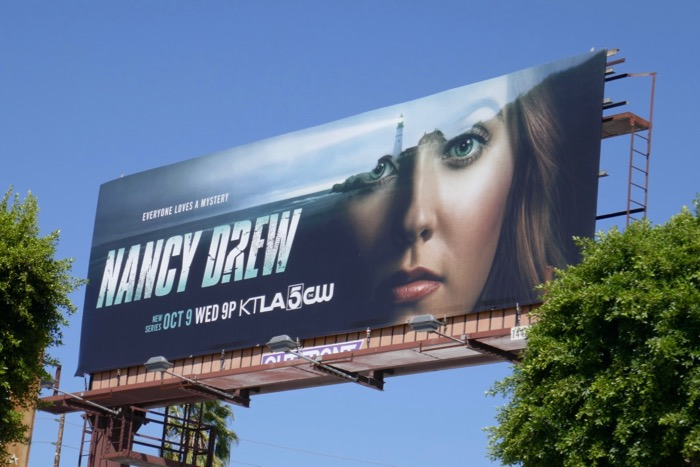 Nancy Drew series launch billboard