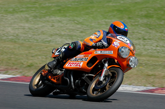 Giovanni Laverda racing the V6