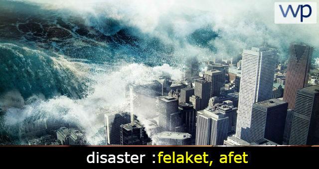 disaster çeviri