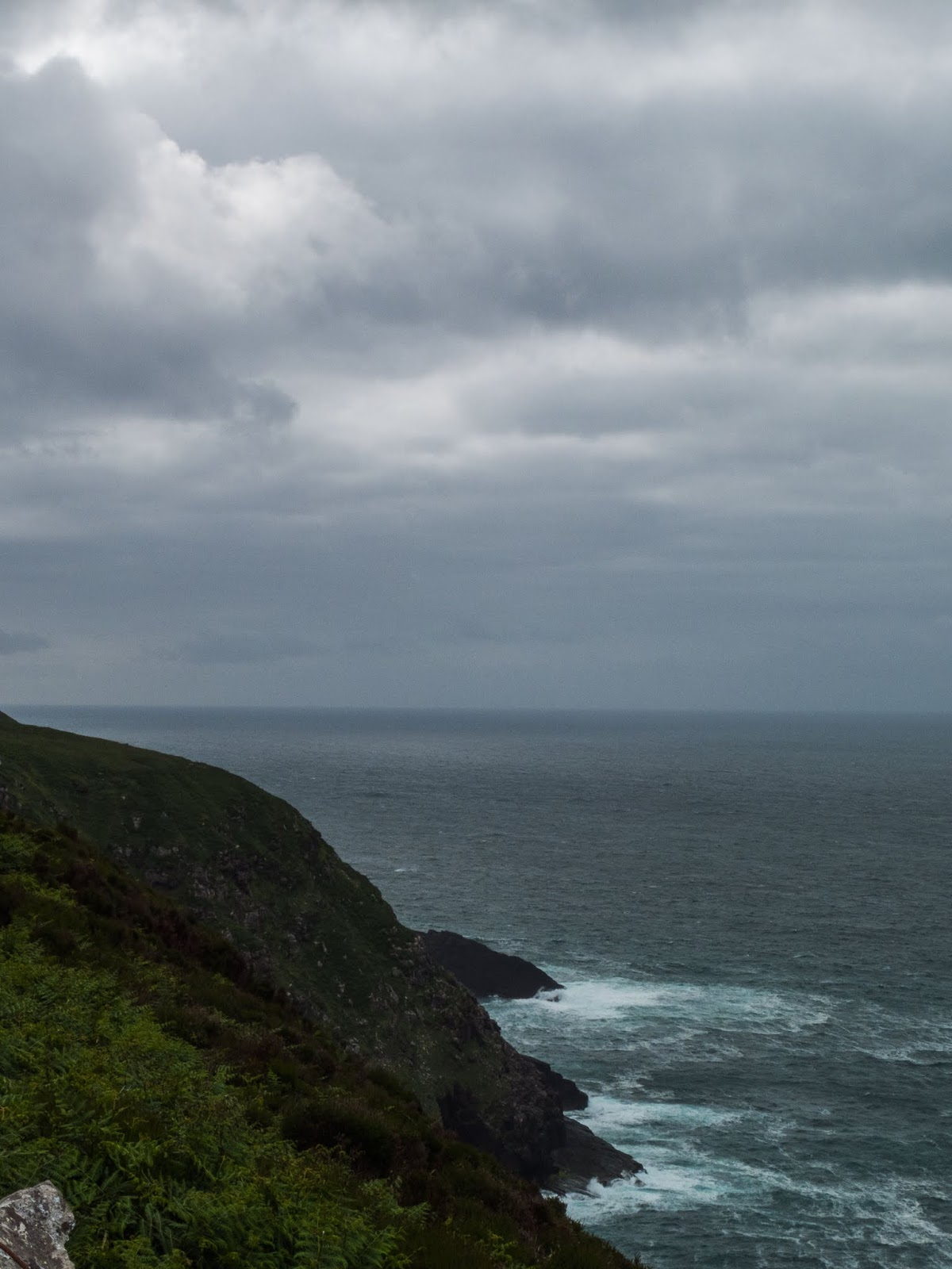 View of the North Atlantic Ocean from Brandon Point in County Kerry.