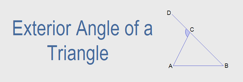 Exterior Angle of a Triangle