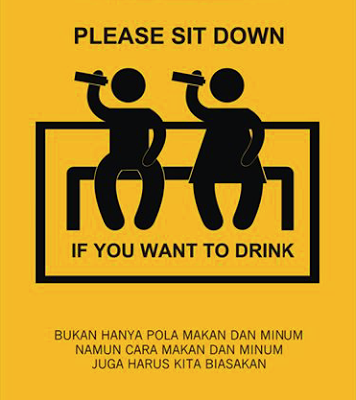 Makan dan Minum dengan duduk itu baik dan sesuai sunnah Nabi (info1168.blogspot.com)