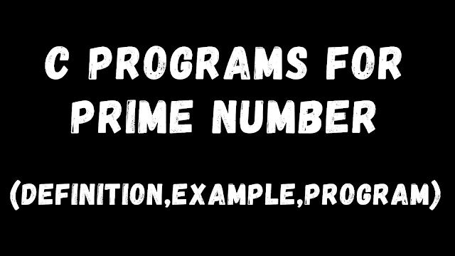 C-Programs-For-Prime-Number
