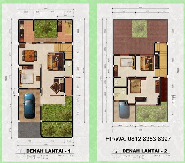 Floor Plan Rumah Murah Harga Perdana Aries Village Hanya 475 Juta Di Menteng 7 Medan Sumatera Utara