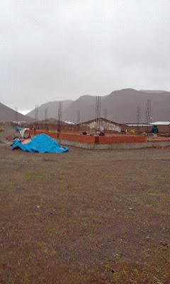 Die Arbeiten an am Bau unserer neuen Kapelle in Kollpani gehen zügig voran