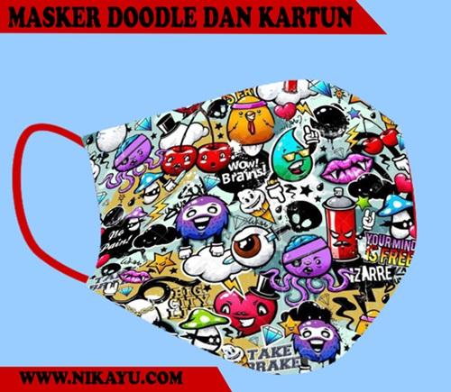 Desain Doodle dan Kartun: Menguntungkan Bisnis Masker, Saat Pandemi Covid-19