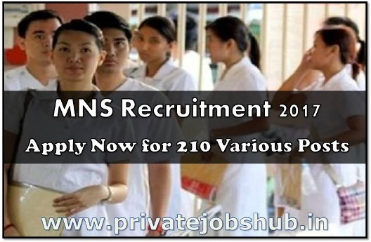 Military Nursing Services Recruitment 2017 MNS Jobs Vacancy