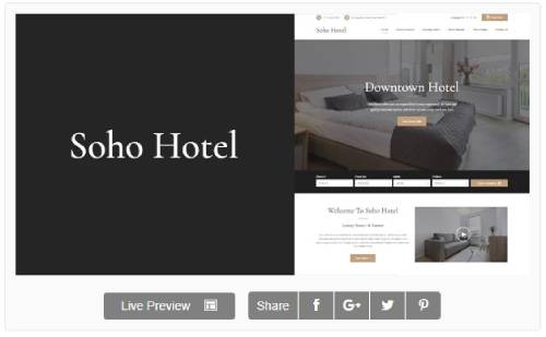 Download Theme Wordpress Soho Hotel Booking Calendar