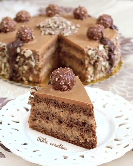 tort orzechowo czekoladowy