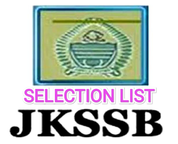 JKSSB Released Selection List Of Accounts Assistant (Panchayat)