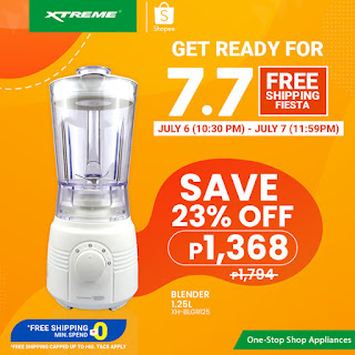 XTREMEappliances, 7.7 Shopee Free Shipping Fiesta, Plastic Blender