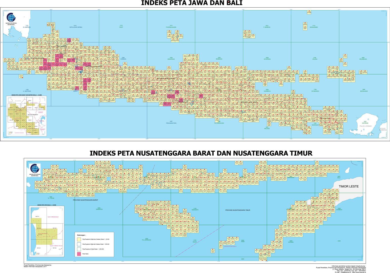 Nomor Lembar Peta (NLP) Seluruh Indonesia Per Provinsi dan Pulau Besar Kode Demnas