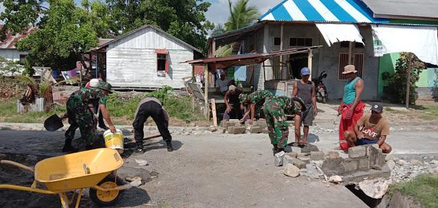 Tekan Angka Kecelakaan,  Inovasi Jalan Setapak Satgas Yonif 734 di Apresiasi Warga