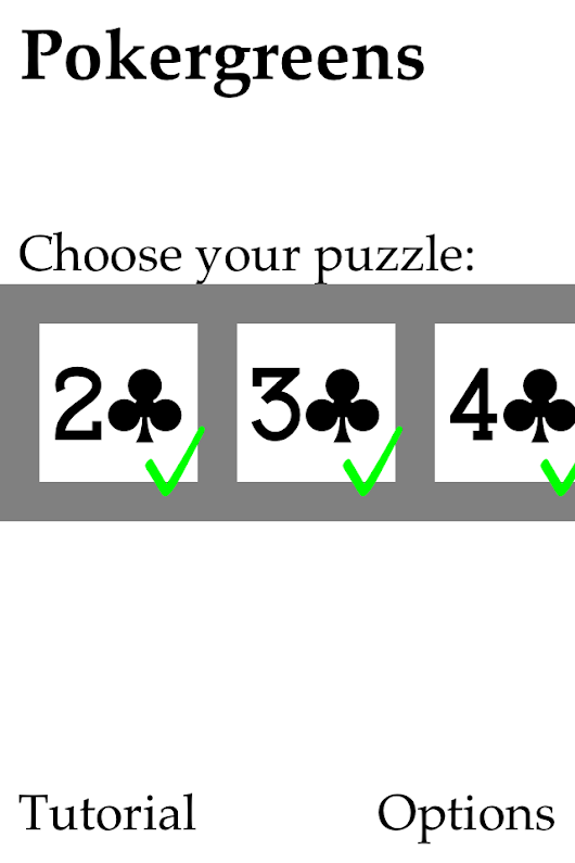 Review: Pokergreen Puzzles for iPhone and iPad