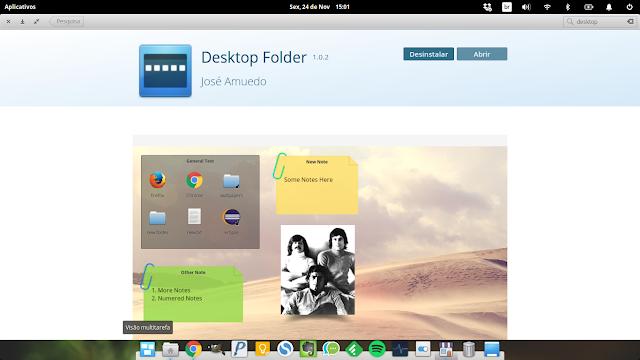 elementary OS Desktop Folder
