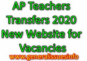 AP Teachers Transfers 2020 New Website for Vacancies