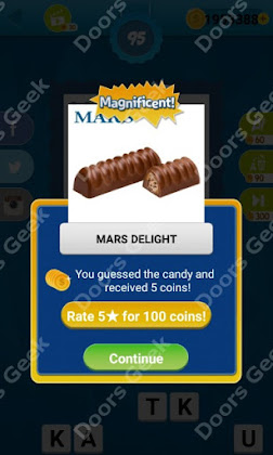 Answers, Cheats, Solutions for Guess the Candy Level 95 for android and iphone
