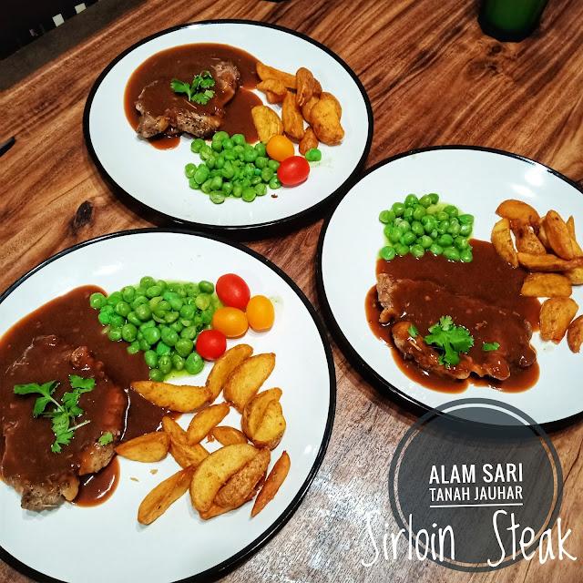 SIRLOIN STEAK UNTUK DINNER