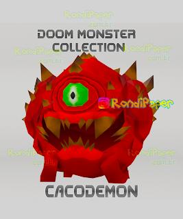 coleção papertoys games monstros inimigos demonios
