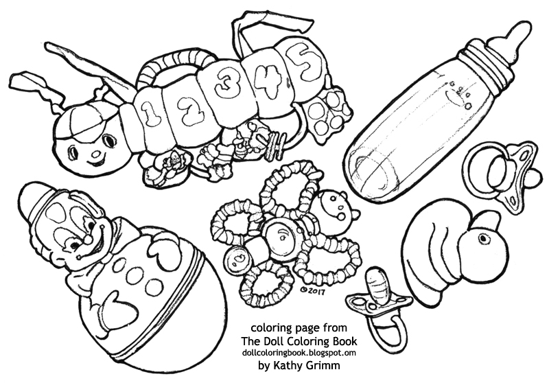 The Doll Coloring Book The Baby S Toys Coloring Page