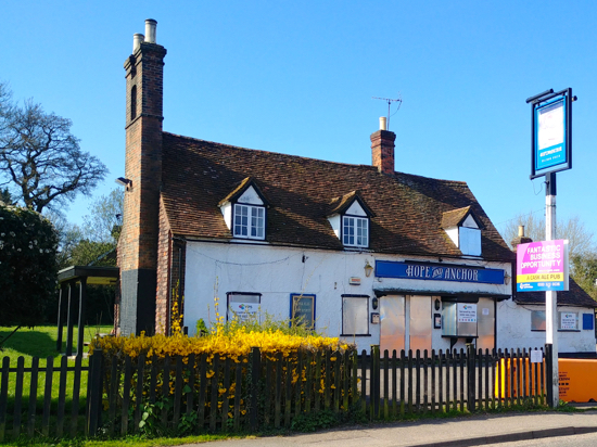 The Hope and Anchor, April 2018  Image by North Mymms News, released under Creative Commons BY-NC-SA 4.0
