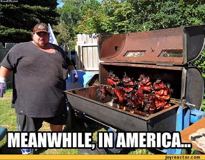 Grillen wie in Amerika witzig