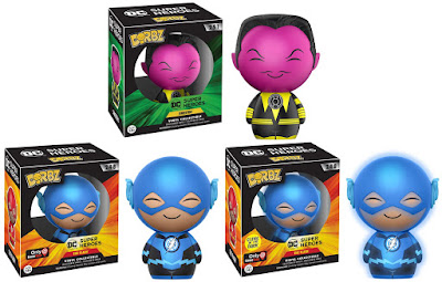 DC Comics Universe Dorbz Vinyl Figure Series by Funko - Sinestro & GameStop Exclusive Blue Lantern The Flash and chase variant Glow in the Dark Blue Lantern The Flash