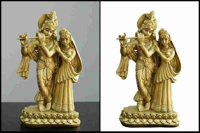 Radha Krishna Gold Antique Statue