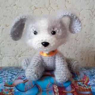 Вязаная игрушка собака крючком