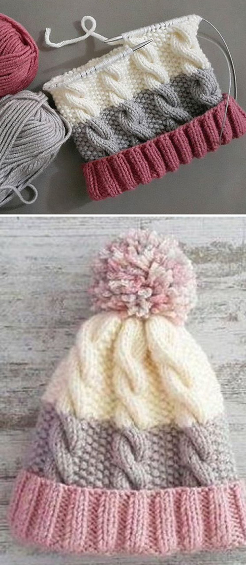 Cozy Cable Knit Hat - Free Pattern