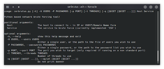 , Cerbrutus – Network Brute Force Tool, Written In Python, The Cyber Post