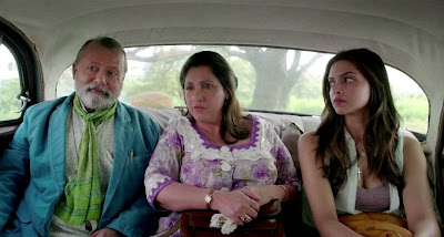 "Pankaj Kapur as Don Pedro Cleto Colaco and Dimple Kapadia as Rosalina ""Rosie"" Eucharistica, Deepika Padukone as Angie in Finding Fanny"