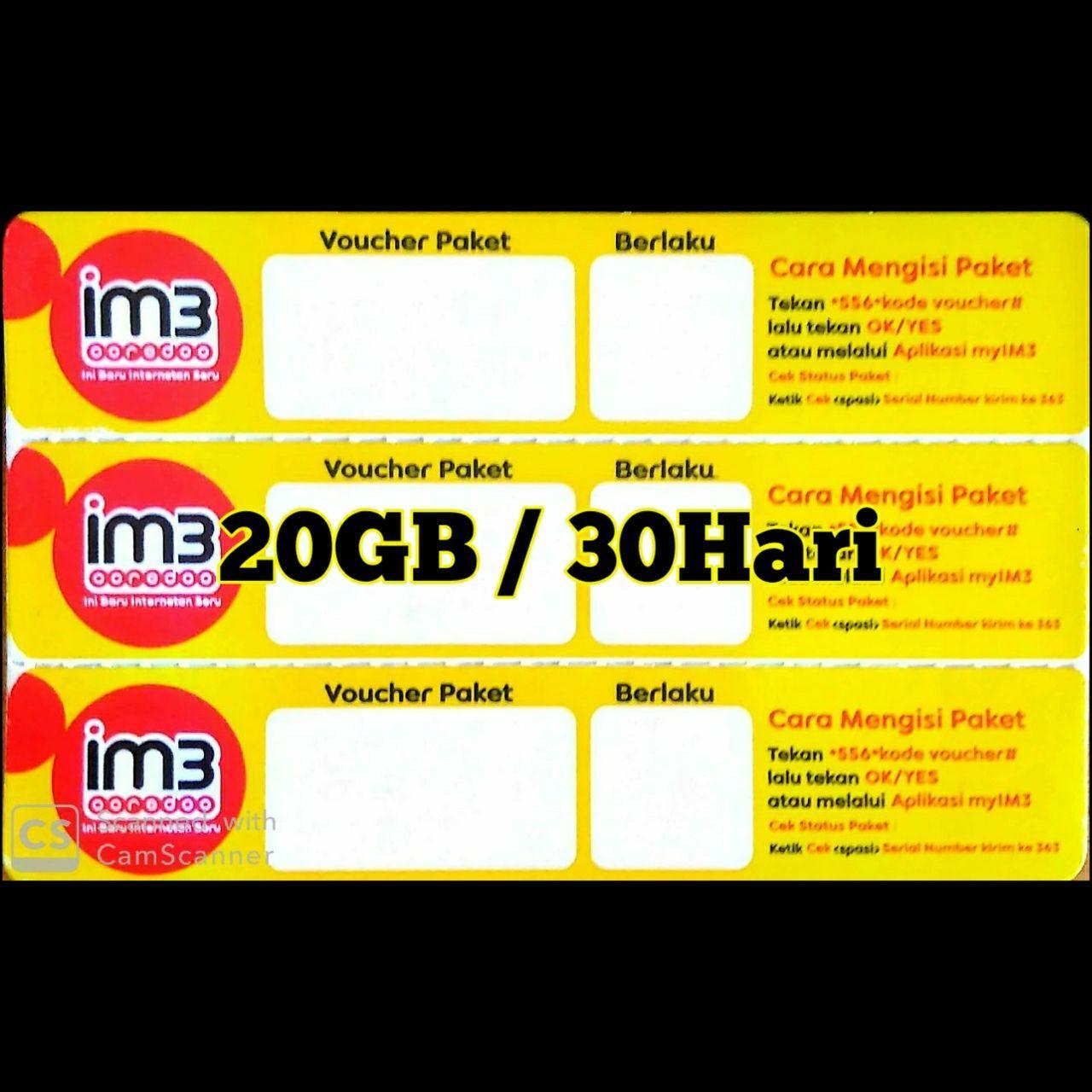 Data Im3 20GB/30HARI
