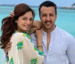 dia mirza with her husband