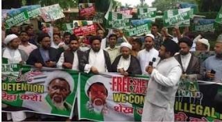 BREAKING: Indians storm Nigerian embassy, demands El-Zakzaky freedom