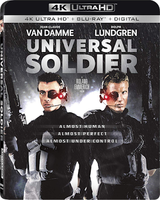 Cover art for Lionsgate's 4K UHD of UNIVERSAL SOLDIER!
