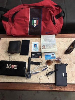 The stuff allegedly found with the suspects in Giulio Regeni's murder case