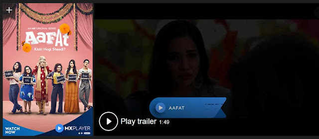 Play Aafat (2019) Best Web Series Trailer online for free
