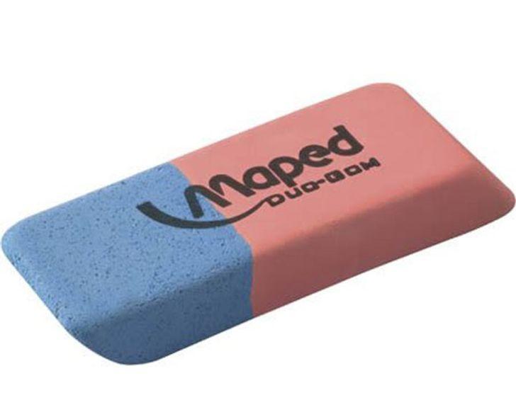 Blue half eraser