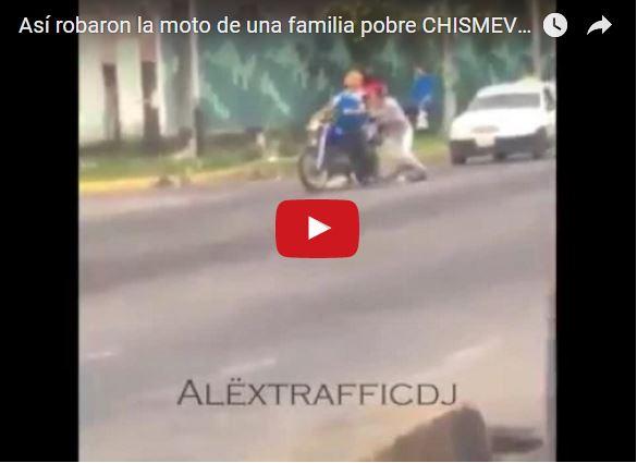 Así se robaron una moto de una familia pobre