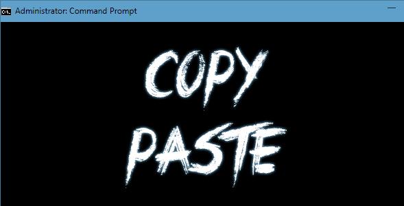 Cara Melakukan Copy Paste Pada Command Prompt Windows