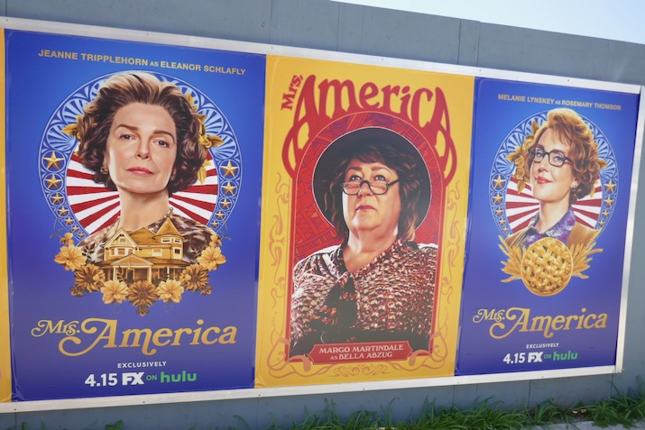 Mrs America launch street posters