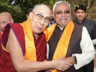 CM Nitish Kumar with Buddhism Guru Dalai Lama